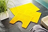 tapis de salle de bain Combi-Économie | lavalble antidérapant | Tapis de bain 50 x 80 cm et 45 x ...