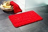 tapis de salle de bain | lavable antidérapant | Tapis de bain 50 x 80 cm en rouge