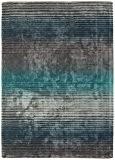 Tapis de salon design moderne HOLBORN STRIPE RUG 120x170cm TURQUOISE gris/bleu