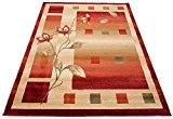 Tapis de Salon FEUILLES En Carreaux Crème Beige Design Moderne Différentes Dimensions S-XXL (240 cm x 330 cm) (180 cm ...