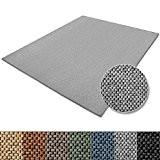 Tapis de salon gris argenté casa pura® effet sisal | polypropylene + coton | chambre, couloir | 7 couleurs et ...