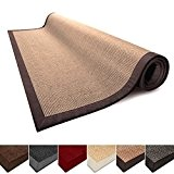 Tapis de salon liége 100% Sisal naturel casa pura® Amazonas | 3 tailles | bordure coton | dos latex antidérapant ...