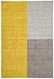 Tapis de salon moquette Carpet moderne Design BLOX GEOMETRIE RUG 100% Jute 200x300 cm rectangle Jaune | Tapis acheter en ...