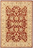 Tapis de salon moquette oriental Carpet klassisch Design AGRA CLASSIC RUG 100% Wolle 120x170 cm rectangle Rouge | Tapis acheter ...