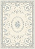 Tapis de salon moquette Oriental Carpet persan Design ECHO DAUPHIN RUG 100% Polypropylen 160x230 cm rectangle Blanc   Tapis acheter ...
