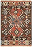 Tapis de salon moquette Oriental Carpet persan Design KELIM ORNAMENT RUG 80% Wolle 20% Jute 160x230 cm rectangle Brun | ...