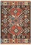 Tapis de salon moquette Oriental Carpet persan Design KELIM ORNAMENT RUG 80% Wolle 20% Jute 160x230 cm rectangle Brun   ...