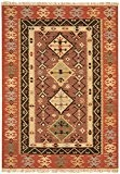 Tapis de salon moquette Oriental Carpet persan Design KELIM VINTAGE RUG 80% Wolle 20% Jute 160x230 cm rectangle Rouge | ...