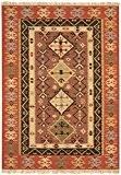 Tapis de salon moquette Oriental Carpet persan Design KELIM VINTAGE RUG 80% Wolle 20% Jute 160x230 cm rectangle Rouge   ...
