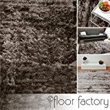 Tapis de salon Satin gris argent 160x230 cm - tapis shaggy longues mèches