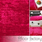 Tapis de salon Satin rose fuchsia 120x170 cm - tapis shaggy longues mèches