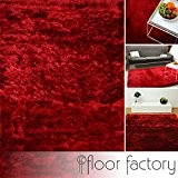 Tapis de salon Satin rouge 120x170 cm - tapis shaggy longues mèches