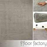 Tapis de salon ultra doux Privilège gris 120x170 cm - tapis shaggy longues mèches microfibre