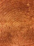 Tapis déco design à poils courts Motif spirale - Doux et agréable au toucher Dimension 60 x 90 – Orange