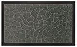 Tapis Déco Tapis d'Entrée Galets Polypropylène/Cao Gris 75 x 45 cm