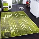 Tapis Design Moderne Poil Court Trendy Vert Gris Crème Moucheté, Dimension:160x220 cm