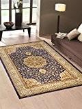 Tapis économique dessin persan style classique Bleu salon 712-blu Cm.160x230 bleu