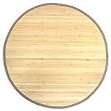 Tapis en bambou rond naturel Ø 200cm TAP06082
