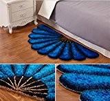 Tapis En Forme De Ventilateur Tapis De Lit Simple Chambre Simple Couleur , Blue , 70*140Cm,blue,70*140cm