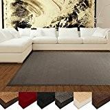 Tapis en sisal casa pura® écologique | antidérapant, résistant | idéal salon, chambre, cuisine | Gris - 160x230cm