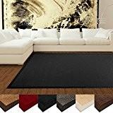 Tapis en sisal casa pura® écologique | antidérapant, résistant | idéal salon, chambre, cuisine | Noir - 200x290cm