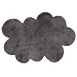 Tapis enfant pilepoil -  Nuage gris foncé 90 x 130 cm - fausse fourrure - Fabrication Française