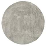 Tapis enfant pilepoil -  Rond  gris clair D 140 cm - fausse fourrure - Fabrication Française
