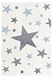 Tapis enfants Happy Rugs ÉTOILES couleur crème/gris-bleu 80x150 cm