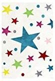 Tapis enfants Happy Rugs ÉTOILES couleur crème/multicouleur 80x150 cm