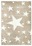 Tapis enfants Happy Rugs ÉTOILES couleur du sable/blanc 120x180 cm