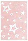 Tapis enfants Happy Rugs LUMIERE DES ÉTOILES rose/blanc 100x160cm