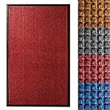 Tapis entree absorbant etm® intérieur ou extérieur | 3 tailles et 4 couleurs au choix | Diamant - rouge, 60x90cm