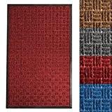 Tapis entree absorbant etm® intérieur ou extérieur | 3 tailles et 4 couleurs au choix | Océan - rouge, 60x90cm