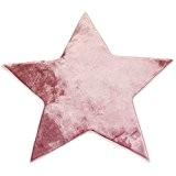 Tapis Forme étoile Rose Extra Doux 90x90cm Flanelle - Monbeautapis - Polyester extra doux