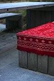 Tapis kilim berbère rouge tissé à la main en laine naturelle 60x100cm