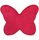Tapis microfibre pour chambre d'enfants - Forme Papillon - Coloris ROSE Fuchsia