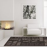 Tapis Modern Designer Salon Finca Sisal New York Gris anthracite, Polypropylène, Gris anthracite, 200 cm_x_290 cm