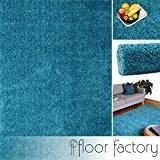 Tapis Moderne Colors bleu turquoise 200x290cm - tapis shaggy longues mèches au prix super bas