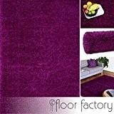 Tapis Moderne Colors violet 80x150cm - tapis shaggy longues mèches au prix super bas