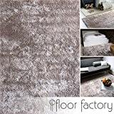 Tapis Moderne Delight taupe / gris brun 120x170cm - tapis noble soyeux, satiné et tout doux