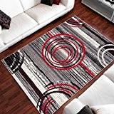 Tapis Moderne Design Des Pierres Cercles Differentes Dimensions (160 x 230 cm)