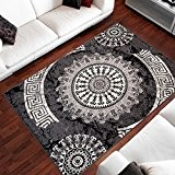 Tapis Moderne Design Ornement Gris Differentes Dimensions (80 x 150 cm)