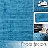 Tapis Moderne Lounge bleu turquoise 160x230cm - tapis exclusif en style vintage