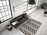 Tapis Moderne Poil Ras Triangle Géométrique Motif Tapis Design Gris - 160cm x 230cm