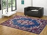 Tapis motif oriental Tapis pas cher maison classique PERSIAN 6210-AZZURRO cm.140x200