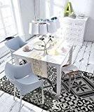 Tapis Motifs Carreaux De Ciment Gris Noir 140x100cm Toodoo - Monbeautapis - Polyester extra doux