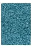 Tapis Norvège - Oslo Bleu 60cm x 110cm 100% polypropylène heatset Frisée