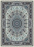 Tapis Oriental, 200x300 cm, laine, densité 1 000 000 nœuds par mètre carré, beige, bleu !!! (200_x_300)