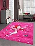 Tapis, poil ras 3D papillon contour coupe Rouge Crème Fée Rose Turquoise Größe 120x170 cm