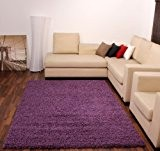 Tapis Poils Hauts et Longs Shaggy Mauve Violet UNI Violet SUPER PRIX NOUVEAU*, Dimension:60x100 cm